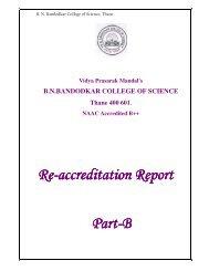 Re-accreditation Report accreditation Report ... - VPMThane.org