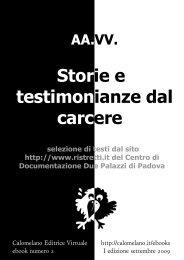 Storie e testimonianze dal carcere - Calomelano