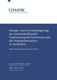 Umsatz- und Gewinnsteigerung im Arzneimittelhandel - Optimierung ...