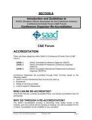 Section A - Introduction Guidelines for Re-accreditation - SAACI