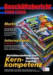Geschäftsbericht 1999/2000 - Computec Media AG