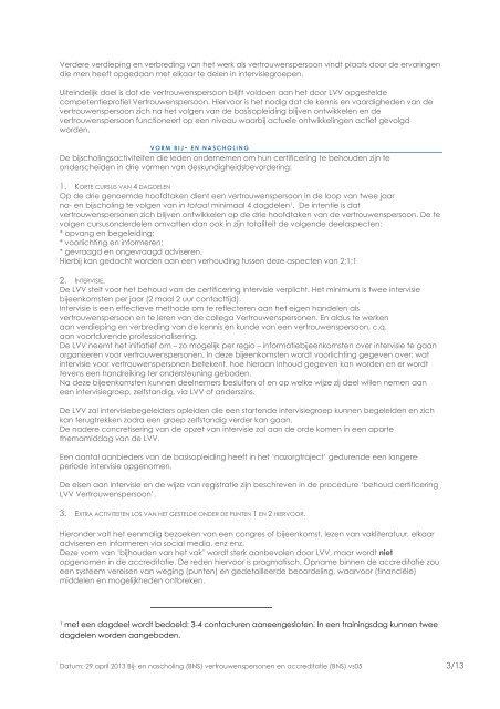 Eisen accreditatie bij- en nascholing - Landelijke Vereniging van ...