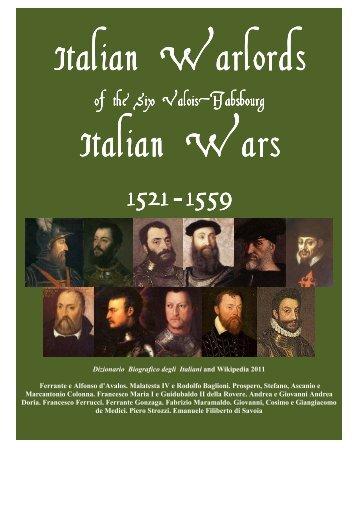 Italian Warlords of the Six Valois Habsbourg Italian Wars 1521 1559 ...