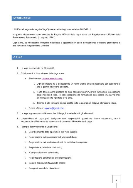 Introduzione e-mail sul sito di incontri