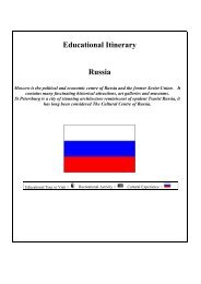 Educational Itinerary Russia - Casterbridge Tours