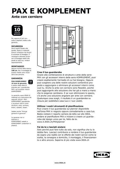 Ikea Guardaroba Pax Komplement Sistema Componibile.Pax Sistema Componibile Pdf Ikea