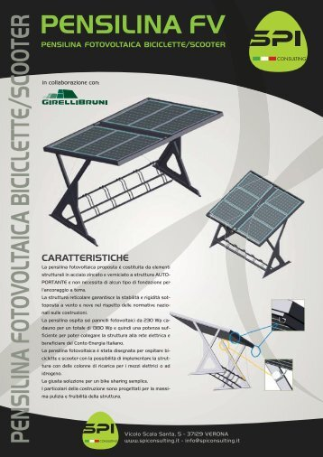 pensilina fotovoltaica biciclette/scooter - SPI consulting