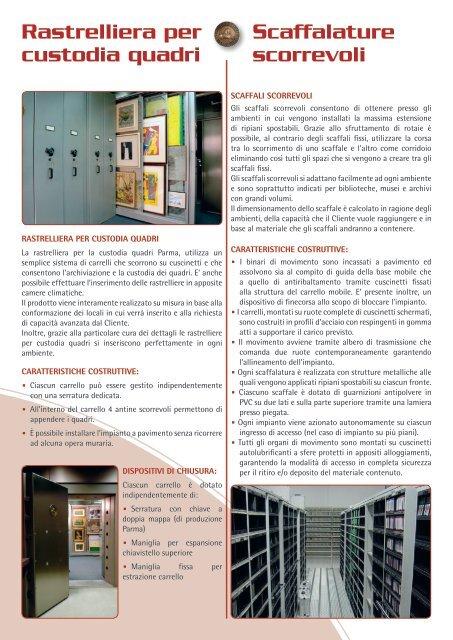 Scaffalature di sicurezza e Sistemi di archiviazione