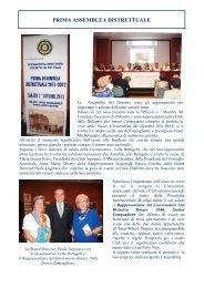 Distr 204 PHF - Prima Assemblea Distrettuale - Inner Wheel Italia