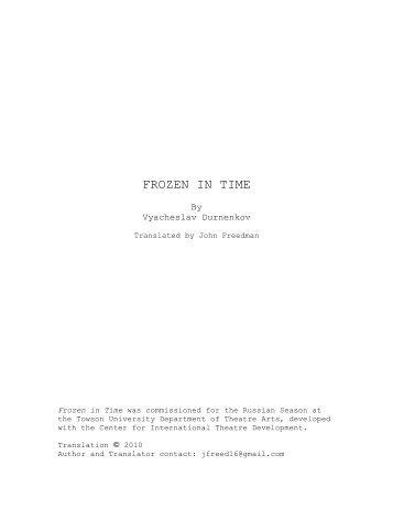 FROZEN IN TIME by Vyacheslav Durnenkov - CITD