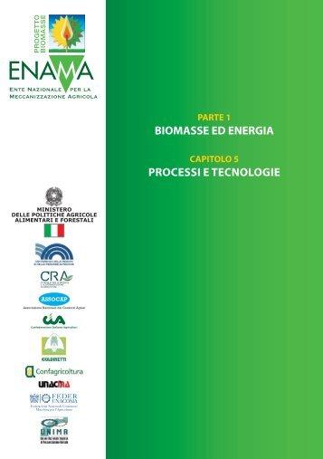 BIOMASSE ED ENERGIA PROCESSI E TECNOLOGIE - Enama