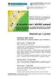 A scuola con i diritti umani - Il Pubblico Tutore Dei Minori - Regione ...