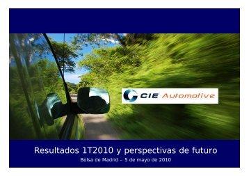 Resultados 1T2010 y perspectivas de futuro - Cie Automotive