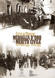 città di carrara medaglia d'oro al merito civile settembre 1943-aprile ...