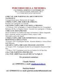 PERCORSO DELLA MEMORIA - ANPI Milano e Provincia