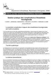 Gestion pratique des complications d'Anesthésie ... - CHU de Rouen