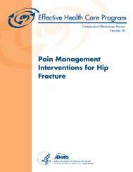 Pain Management Interventions for Hip Fracture - AHRQ Effective ...