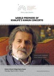 WORLD PREMIERE OF KHALIFÉ'S KANUN CONCERTO