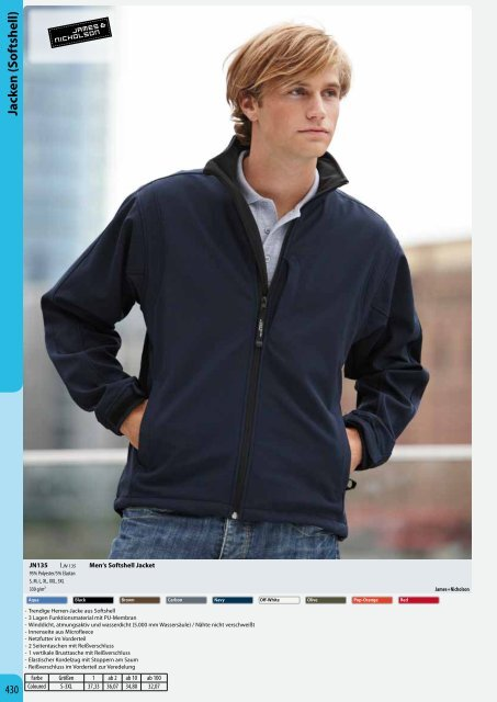 Jacken (Softshell) Jacken (Softshell) - Condi-Werbung