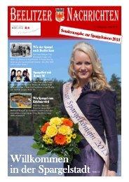 Beelitzer Nachrichten - Sonderausgabe zur Spargelsaison 2013