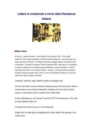 Lettere di condannati a morte della Resistena Italiana