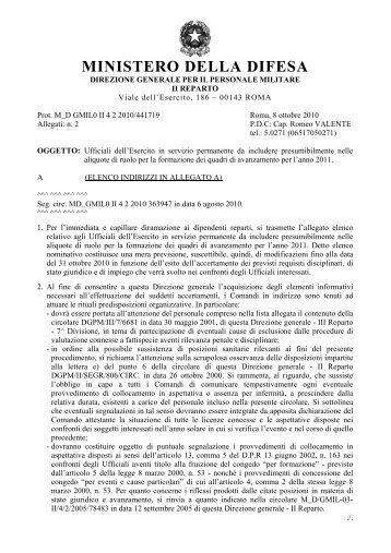 MINISTERO DELLA DIFESA - ForzeArmate.Org