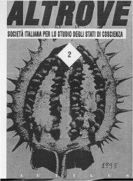 SOCIETÀ ITALIANA PER LO STUDIO DEGLI STATI DI COSCIENZA