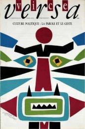 N. 17 Culture politique : la parole et le geste - ViceVersaMag