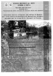 relazione generale - Riserva Naturale dei Monti Navegna e Cervia