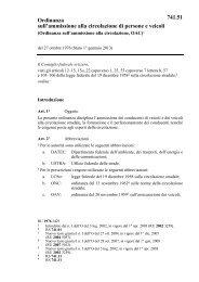 Ordinanza sull'ammissione alla circolazione di persone e ... - admin.ch