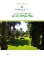 Regolamento comunale del verde pubblico e ... - Comune di Anzio