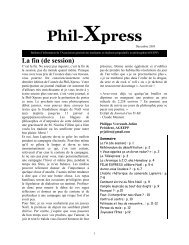 Décembre 2005 - ageepp - Université Laval