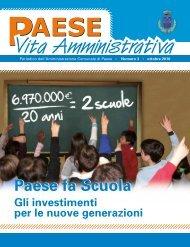 Paese Vita Amministrativa n. 3 - Ottobre 2010 ... - Comune di Paese