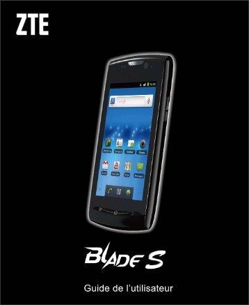 Téléchargement du guide utilisateur ZTE-BLADE S (2.38M)