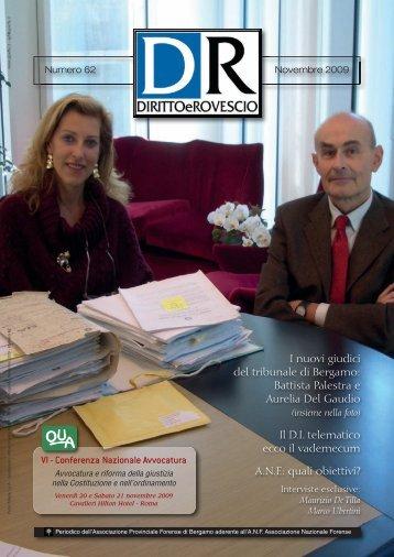 Numero 62 - Novembre 2009 - Associazione Provinciale Forense