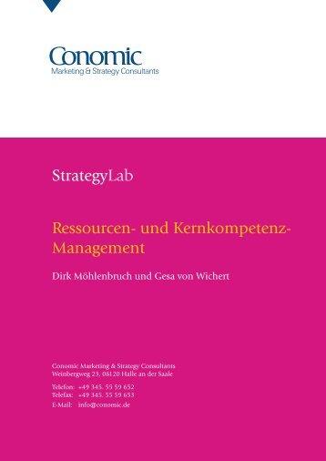 Ressourcen- und Kernkompetenz-Management - Conomic ...