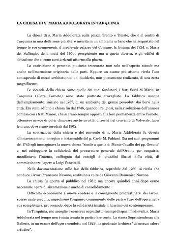 Foschi R _ La Chiesa di S. Maria - Società Tarquiniese Arte e Storia