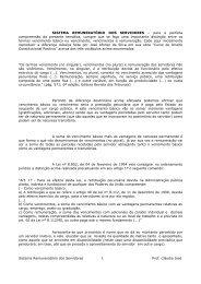 Sistema Remuneratório dos Servidores 1 Prof ... - Editora Ferreira