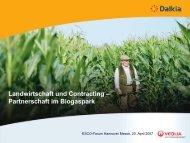 Landwirtschaft und Contracting – Partnerschaft im Biogaspark - Dalkia