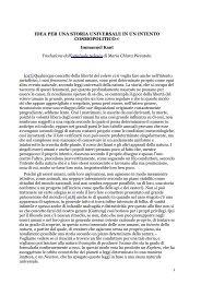 """Kant, I., """"Idea per una storia universale - Luigi Gioia osb"""