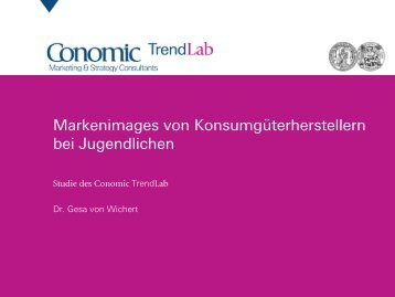 Jugendliche & Marken - Conomic Marketing & Strategy Consultants