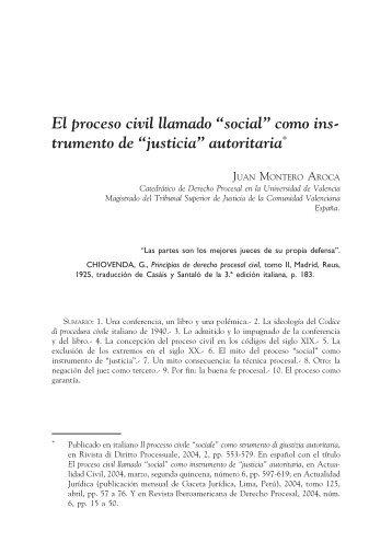 """El proceso civil llamado """"social"""" como ins- trumento de ... - EGACAL"""