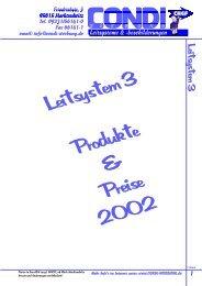 Preise in Euro/Dm zuzgl. MWST, ab Werk - Condi-Werbung