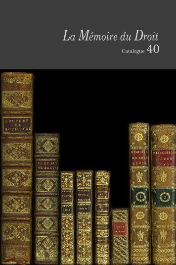 La Mémoire du Droit - Librairie La Memoire du Droit