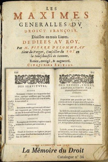 Mise en page 1 - Librairie La Memoire du Droit