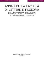 Scarica in PDF - Facoltà di Lettere e Filosofia - Università degli studi ...