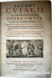 Catalogue bis - Librairie La Memoire du Droit