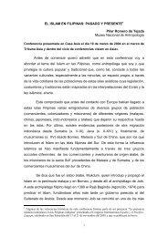 EL ISLAM EN FILIPINAS: PASADO Y PRESENTE1 Pilar ... - Casa Asia