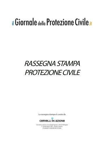 Download rassegna stampa Protezione Civile 20 gennaio
