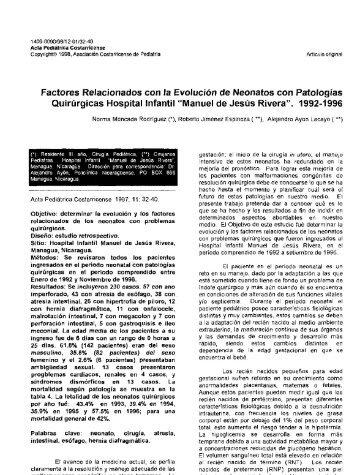 Factores Relacionados con la Evolución de Neonatos con ... - Binasss